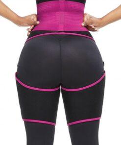 Perfect-Fit Pink Neoprene Adjustable Sticker Thigh Trimmer Slim Girl