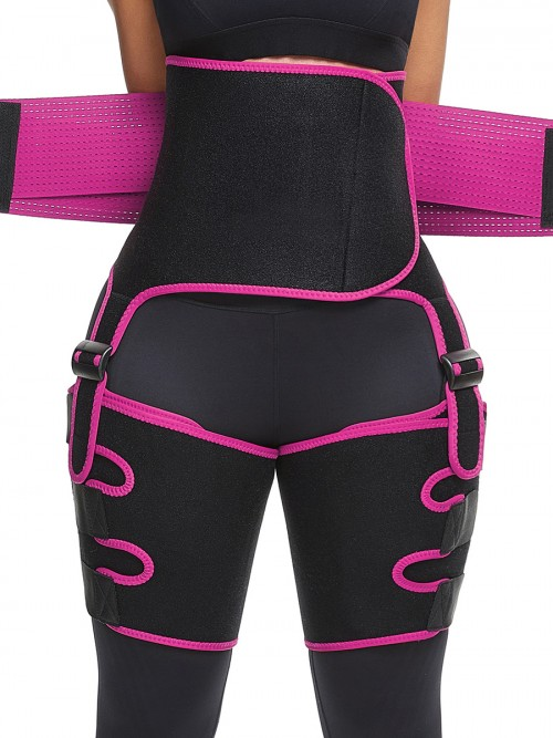 Perfect-Fit Pink Neoprene Adjustable Sticker Thigh Trimmer Slim Girl