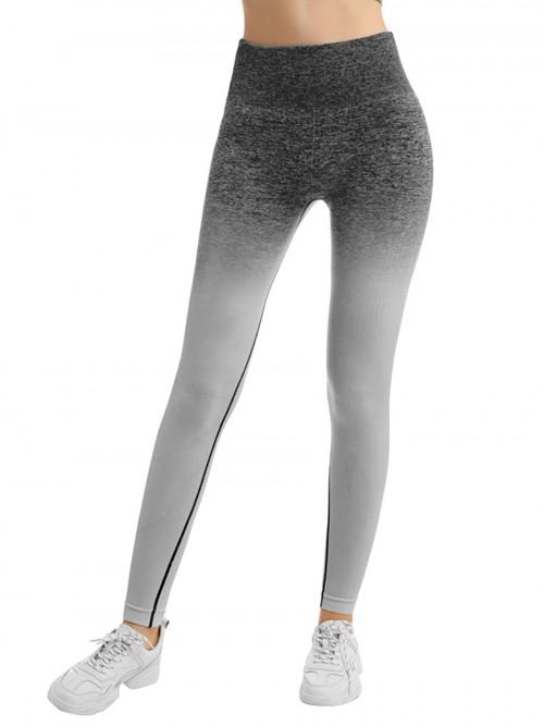 Plain Black Full-Length High Rise Sports Leggings Quick Drying