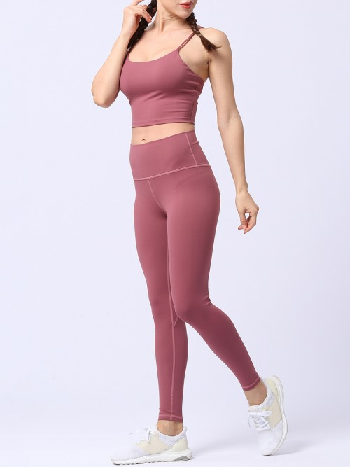 Popularity Red Running Suit Solid Color High Rise Quality Assured