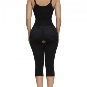 Refine Black Full Body Shaper Straps Open Crotch Body Trimmer