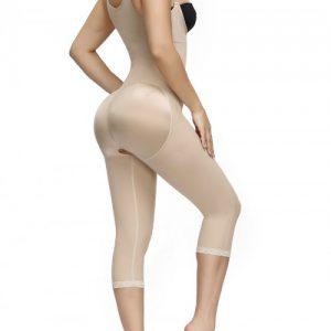 Refine Skin Color Full Body Shaper Straps Open Crotch Body Trimmer