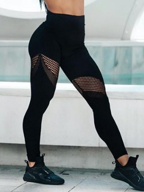 Sculpting Black Exercise Legging Mesh Abdominal Control
