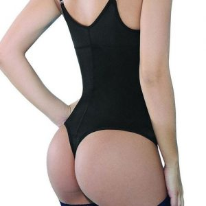 Shape My Day Black Large Size Bodysuit Adjustable Straps Body Shaper Body Sculpting