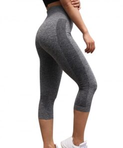 Shaping Gray Athletic Legging Lift Butt Seamless Free Time