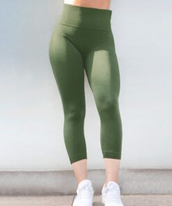 Shaping Green Athletic Legging Lift Butt Seamless Free Time