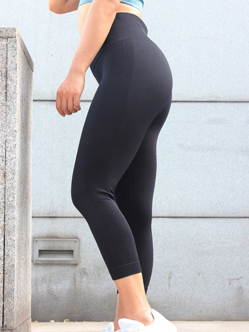 Shaping Black Athletic Legging Lift Butt Seamless Free Time