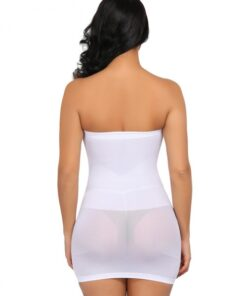 Skinny White Seamless Shapewear Underwear Dress Smoothlines