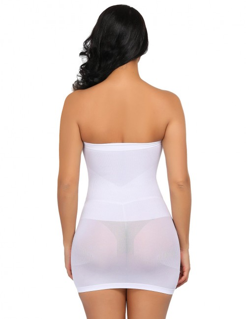 Skinny White Seamless Shapewear Underwear Dress Smoothlines