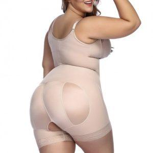 Sleek Nude Boyleg Body Shaper Adjustable Straps Waist Slimmer
