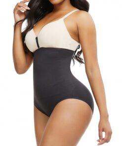 Slim Waist Black Sheer Mesh Seamless Panty High Cut Sleek Curves