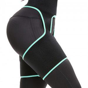Slim Light Green Butt Lifting Neoprene Thigh Shaper Soft-Touch