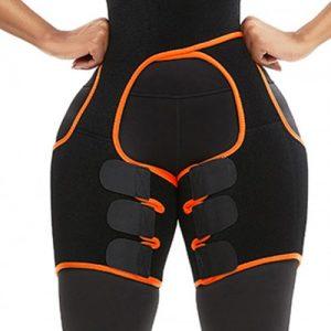 Slim Orange Butt Lifting Neoprene Thigh Shaper Soft-Touch