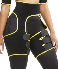 Slim Yellow Butt Lifting Neoprene Thigh Shaper Soft-Touch