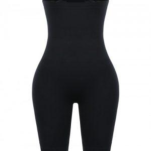 Slimmed Black High Rise Shapewear Pants Plus Size Ladies
