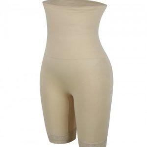 Slimmed Skin Color High Rise Shapewear Pants Plus Size Ladies