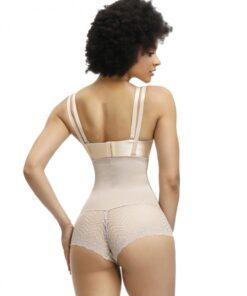 Slimming Belly Black Full Body Shaper Sheer Mesh High Power