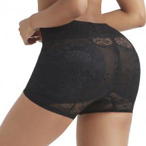 Slimming Black High Waist Panty Shaper Jacquard Weave Compression