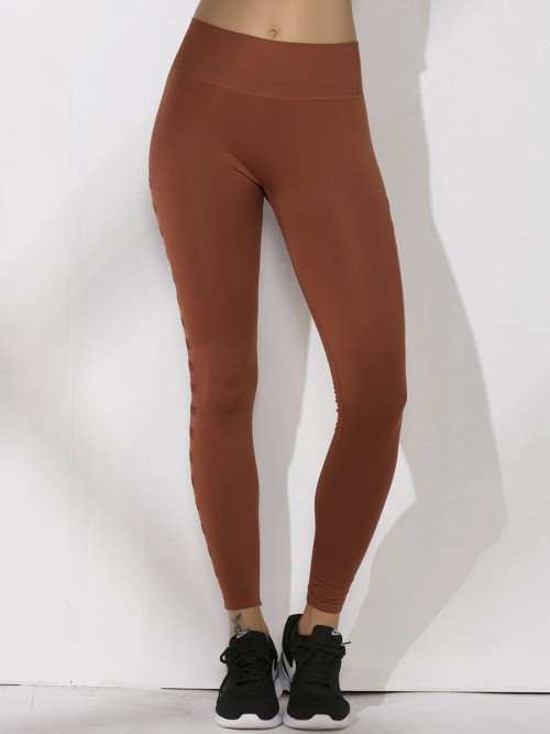 Soft Red High Rise Seamless Athletic Leggings Simplicity