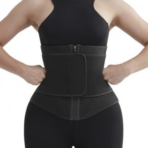 Streamlined Red Zipper Neoprene Waist Cincher With Belt Comfort