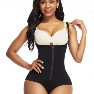 Super Trendy Black Crotch Hooks High Waist Body Shaper Tight Fit