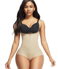 Super Trendy Black Crotch Hooks High Waist Body Shaper Tight Fit