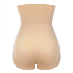 Superfit Skin Color Floral Lace Butt Enhancer Panty Anti-Curling Ultra Hot
