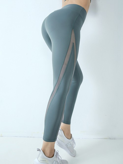 Sweetheart Light Gray High Waist Yoga Legging Lift Butt
