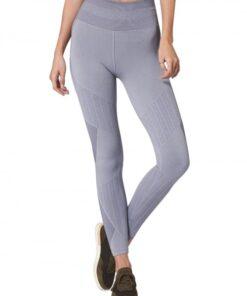 Tight Gray Training Legging High Waist Patchwork For Girls