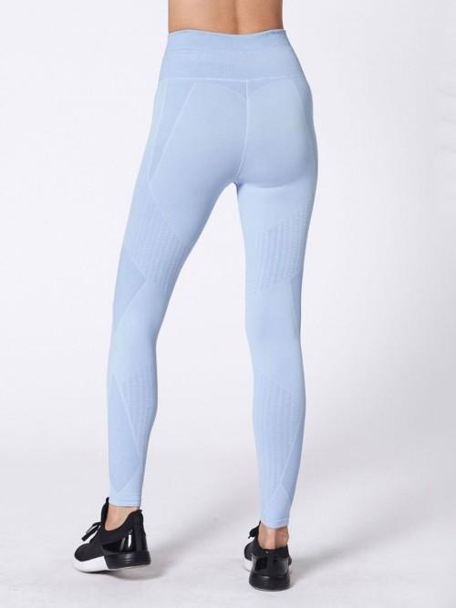 Tight Blue Training Legging High Waist Patchwork For Girls