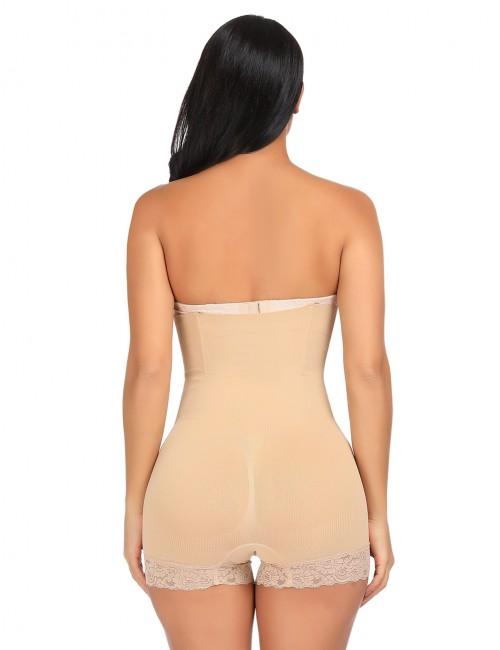 Tummy Control 4 Steel Bones Lace Women Butt Lifter High Rise
