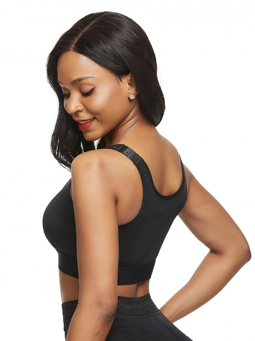 Two-Timing Black Solid Color Shapewear Bar Large Size Contouring Sensation