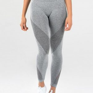 Ultra Stretchy Gray Length Tummy Control Yoga Pants