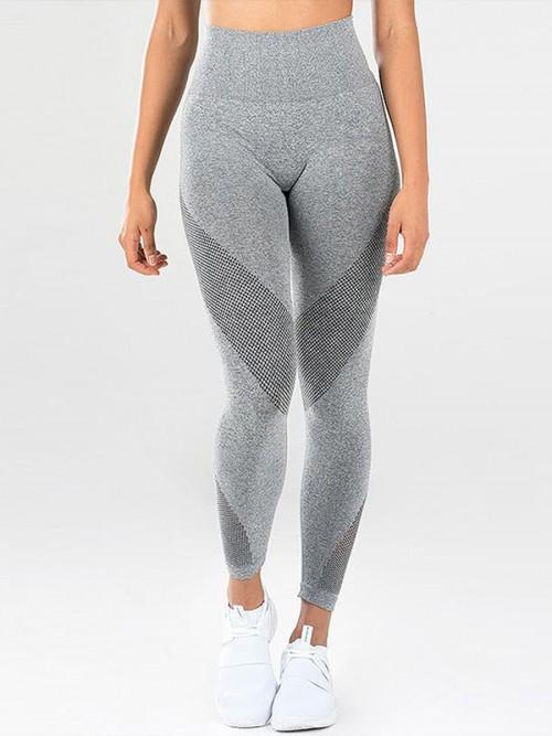 Ultra Stretchy Gray Length Tummy Control Yoga Pants