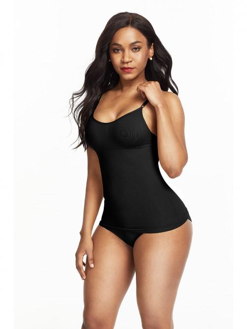 Ultra-Thin Black Seamless Sling Vest Shaper Backless