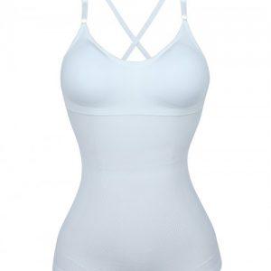 Ultra-Thin White Seamless Sling Vest Shaper Backless