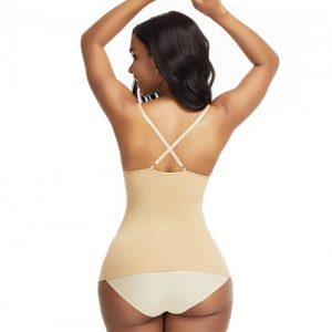 Ultra-Thin Beige Yellow Seamless Sling Vest Shaper Backless