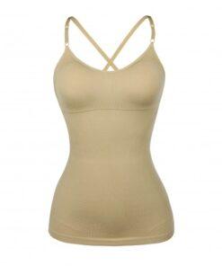 Ultra-Thin Beige Yellow Seamless Sling Vest Shaper Backless