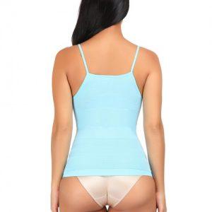 Unbelievable Light Blue Tummy Control Underwear Vest Shape