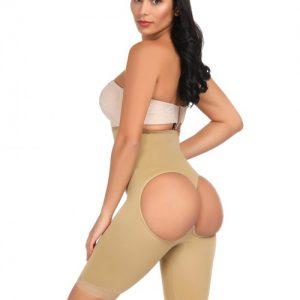 Waist Slimmer Nude Butt Lifter Open Back Cincher Gridle Panties