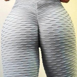 Sweat Yoga Legging Butt Enhance Nice Quality Lightweight Plain Ankle Length Grey